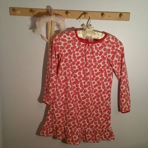 Gymboree Size 7 Peppermint Candy Night Gown
